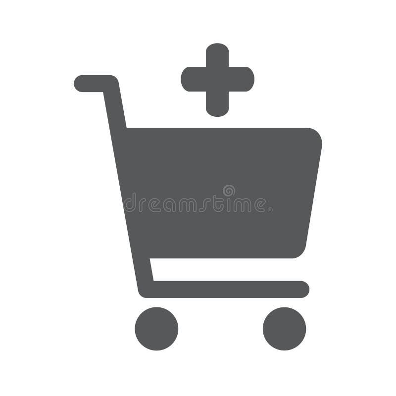 Добавьте к ходя по магазинам значку вектора диаграммы бесплатная иллюстрация