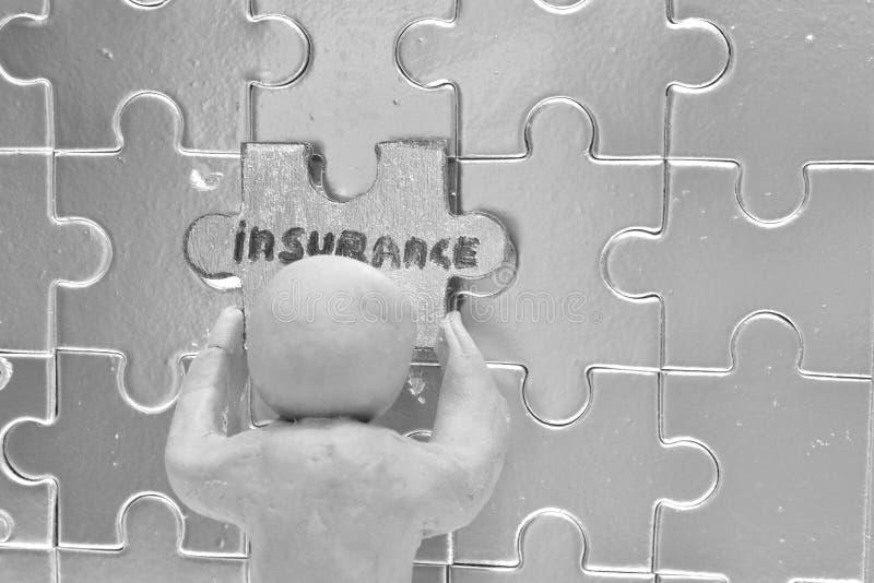 Добровольное страхование метафора стоковые фото