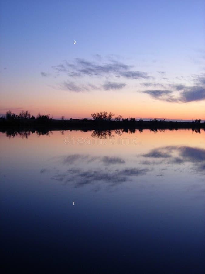 доброй ночи луна Стоковые Фотографии RF