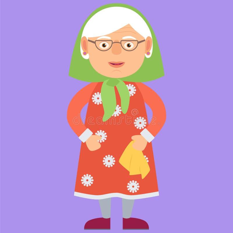 Добросердечная бабушка иллюстрация вектора