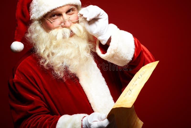 Добросердечный Санта Клаус стоковое изображение rf