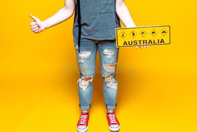 Добро пожаловать к Австралии: впечатление посещения стоковые фото