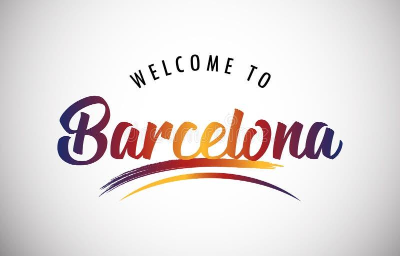 Добро пожаловать к Барселоне стоковое изображение rf
