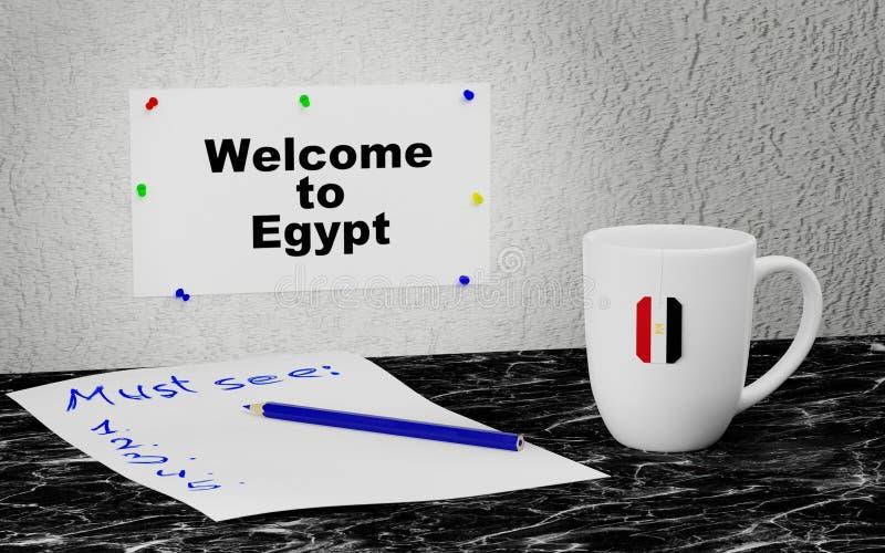 Добро пожаловать к Египту иллюстрация штока
