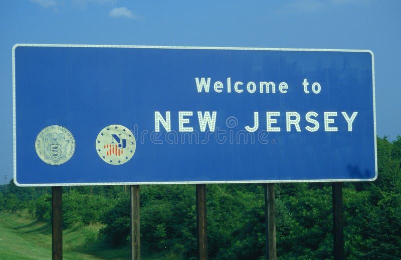 Добро пожаловать к знаку Нью-Джерси стоковые изображения rf