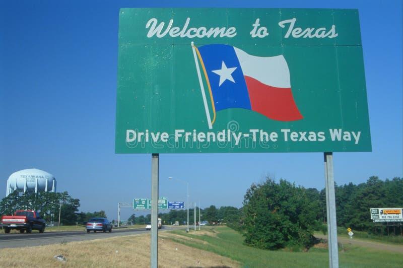 Добро пожаловать к знаку Техас стоковые изображения