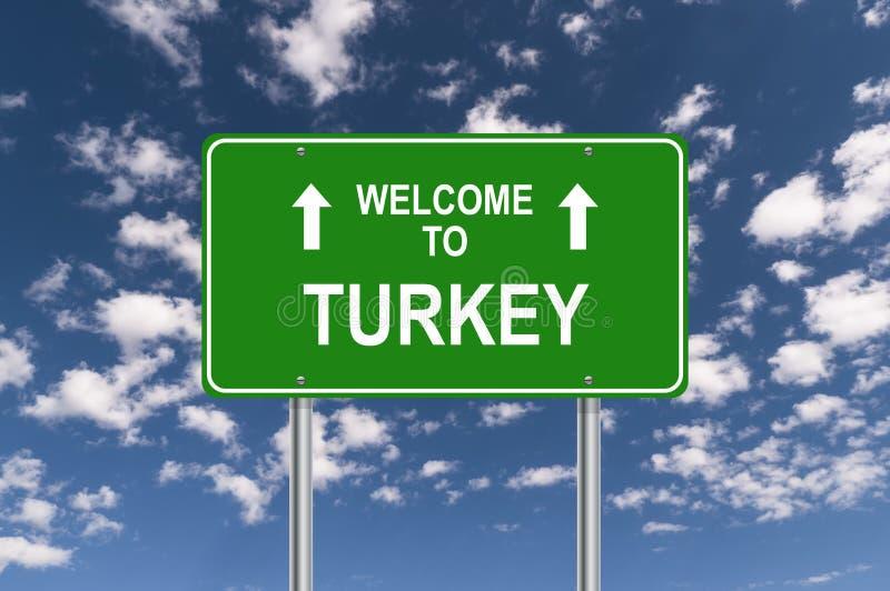 Добро пожаловать к знаку Турции стоковое изображение