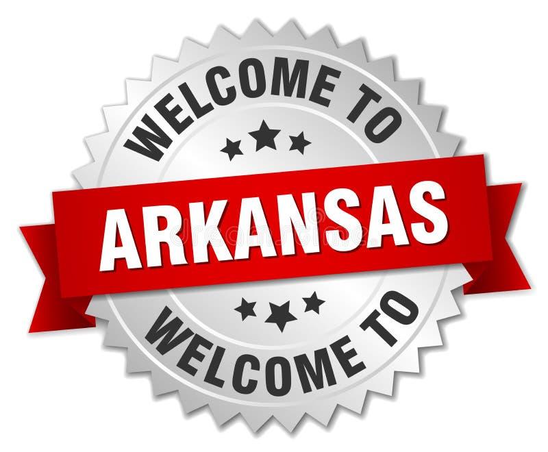добро пожаловать к значку Арканзаса иллюстрация штока