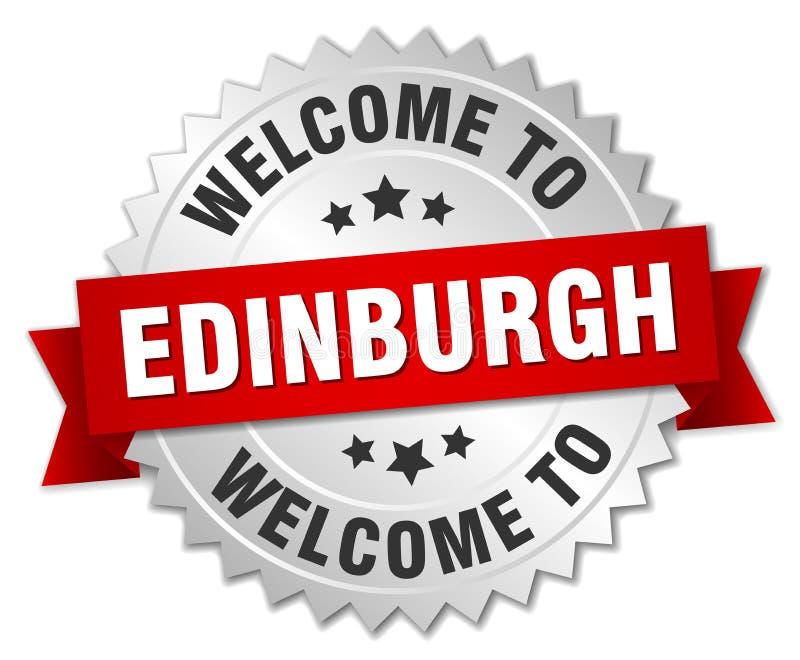 добро пожаловать к значку Эдинбурга бесплатная иллюстрация