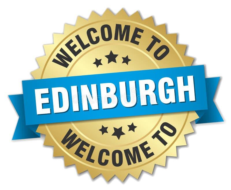 добро пожаловать к значку Эдинбурга иллюстрация вектора