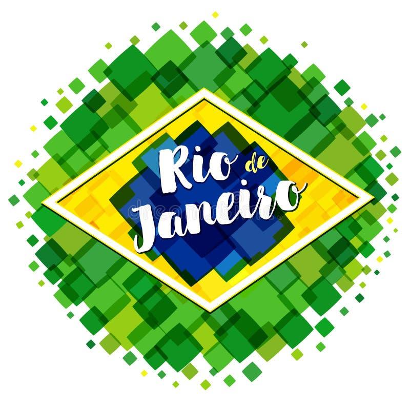 Добро пожаловать к изображению вектора Рио-де-Жанейро иллюстрация вектора