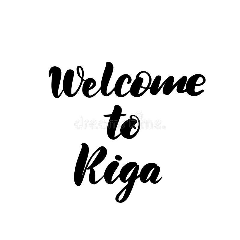 Добро пожаловать к руке щетки Риги бесплатная иллюстрация