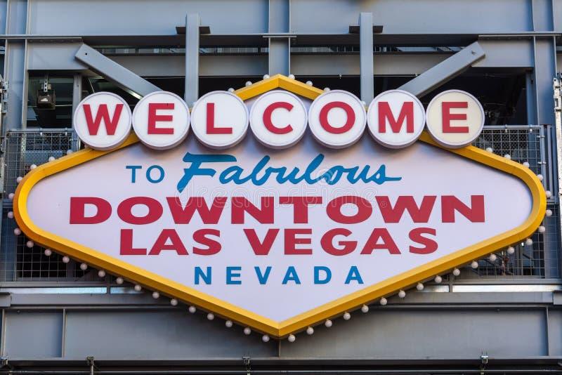 Добро пожаловать к фантастичному городскому знаку Лас-Вегас Невады стоковая фотография rf