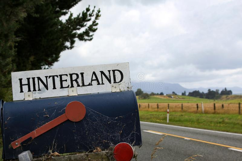 Добро пожаловать к хинтерланду стоковая фотография
