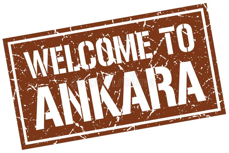 добро пожаловать к штемпелю Анкары иллюстрация вектора