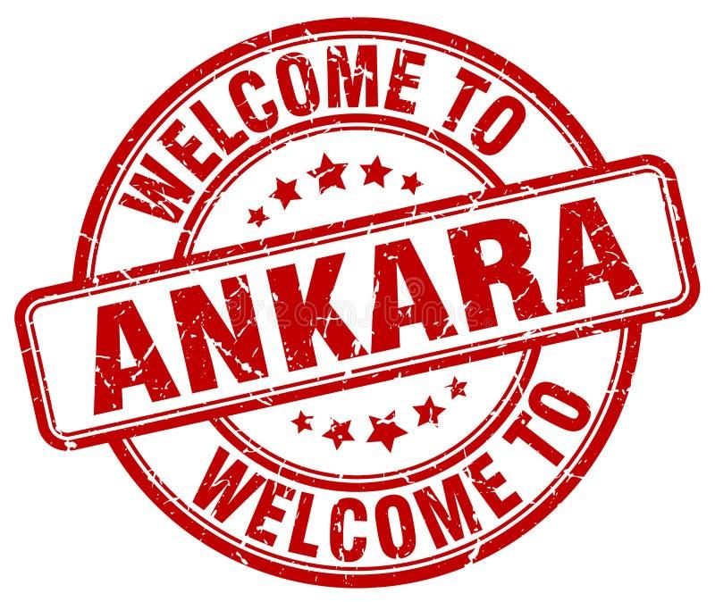 добро пожаловать к штемпелю Анкары иллюстрация штока