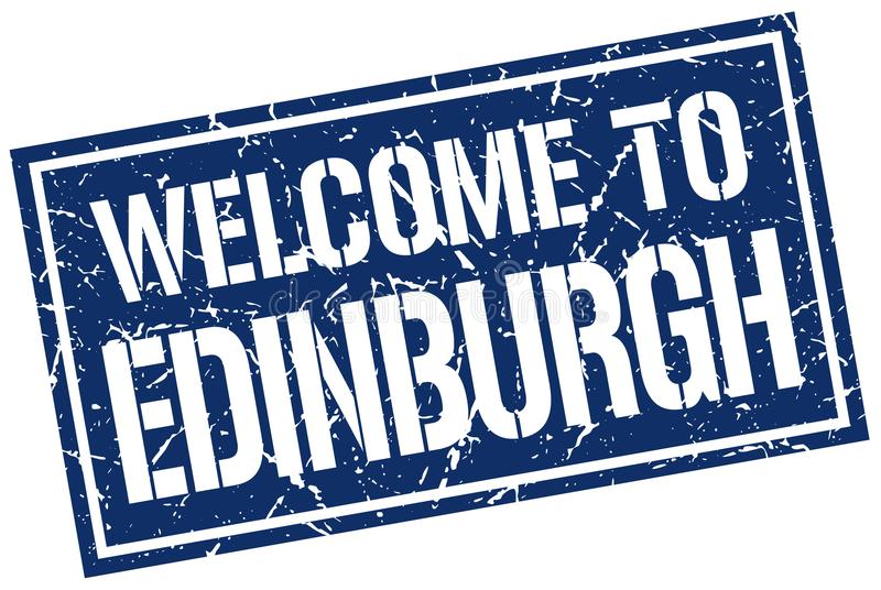 добро пожаловать к штемпелю Эдинбурга иллюстрация штока
