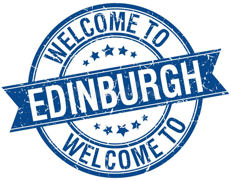 добро пожаловать к штемпелю Эдинбурга бесплатная иллюстрация