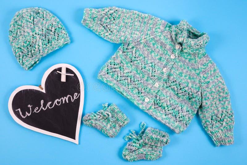 Добро пожаловать к newborn младенцу стоковое фото rf