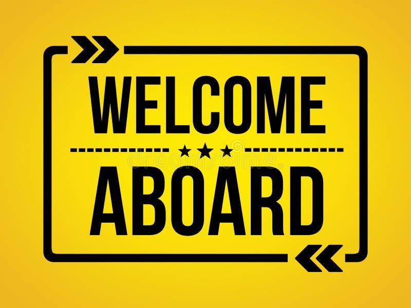 Добро пожаловать сообщение обоев на борту - стоковое изображение rf