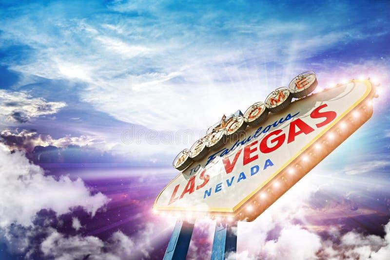 Добро пожаловать в Лас-Вегас стоковые фото