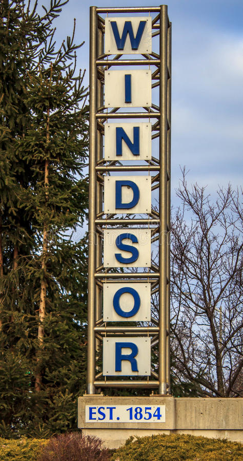 Добро пожаловать к Виндзору EST 1854 стоковое фото
