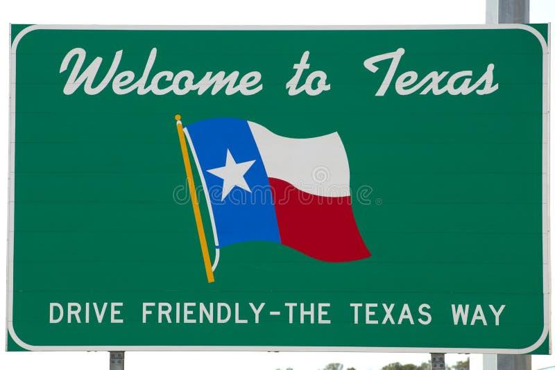 Добро пожаловать к знаку Техас стоковое изображение