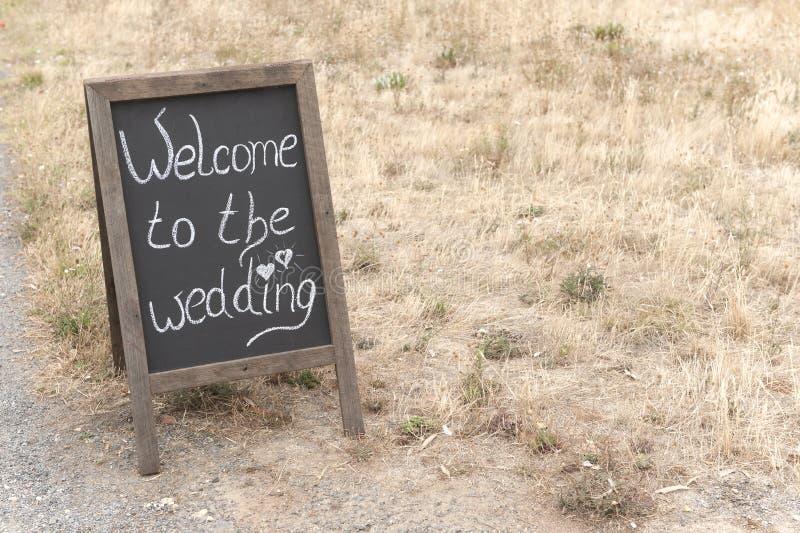 Добро пожаловать к свадьбе стоковое изображение