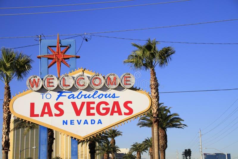 Добро пожаловать никогда, который нужно не спать город Лас-Вегас, Америка, США стоковые изображения rf