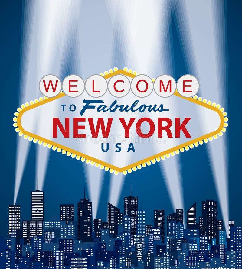 Добро пожаловать NY бесплатная иллюстрация