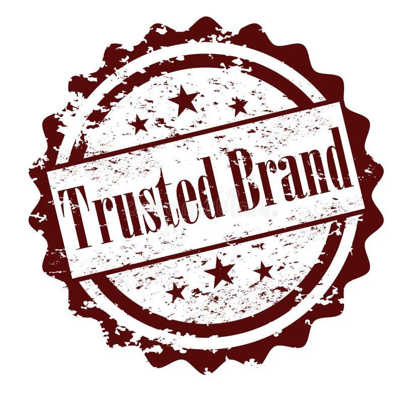 Доверенная избитая фраза вектора бренда иллюстрация вектора