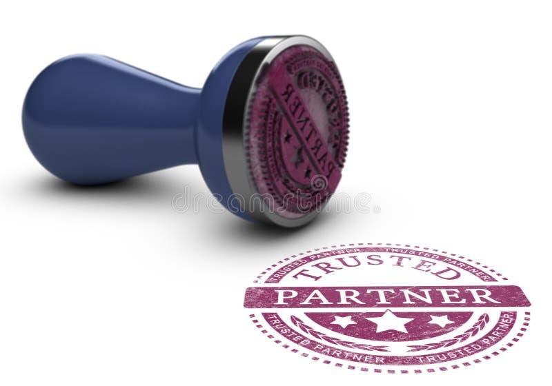 Доверенный деловой партнер иллюстрация вектора