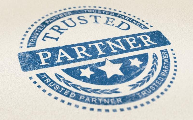 Доверие в предпосылке партнерства дела иллюстрация вектора
