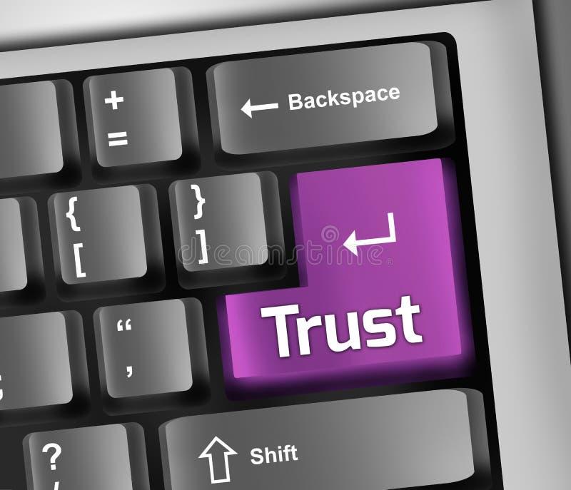 Доверие иллюстрации клавиатуры иллюстрация штока