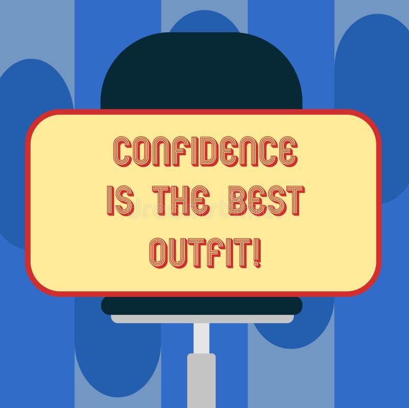 Доверие текста почерка самое лучшее обмундирование Концепция знача самоуважение выглядит лучшей в вас чем одежды прикрывают прямо иллюстрация штока