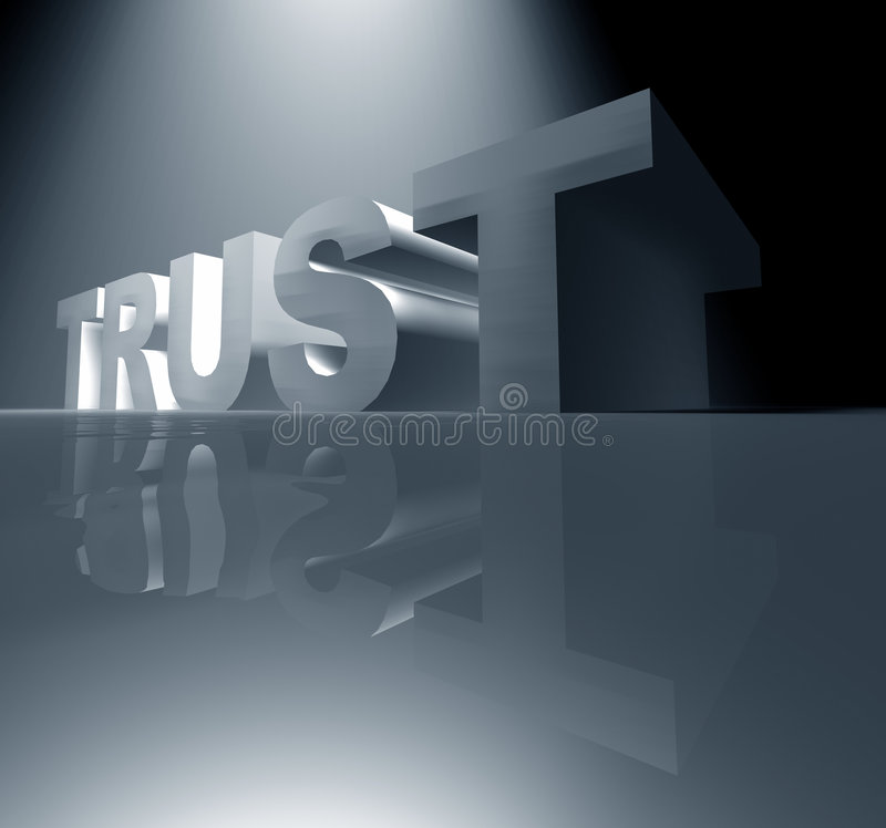 доверие иллюстрация вектора
