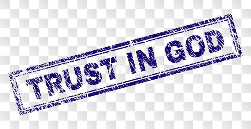 ДОВЕРИЕ Grunge В печати прямоугольника БОГА бесплатная иллюстрация