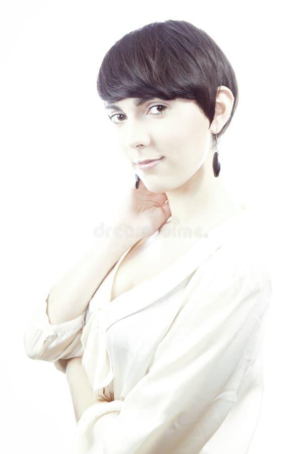Довольно короткие волосы brunete стоковое фото rf
