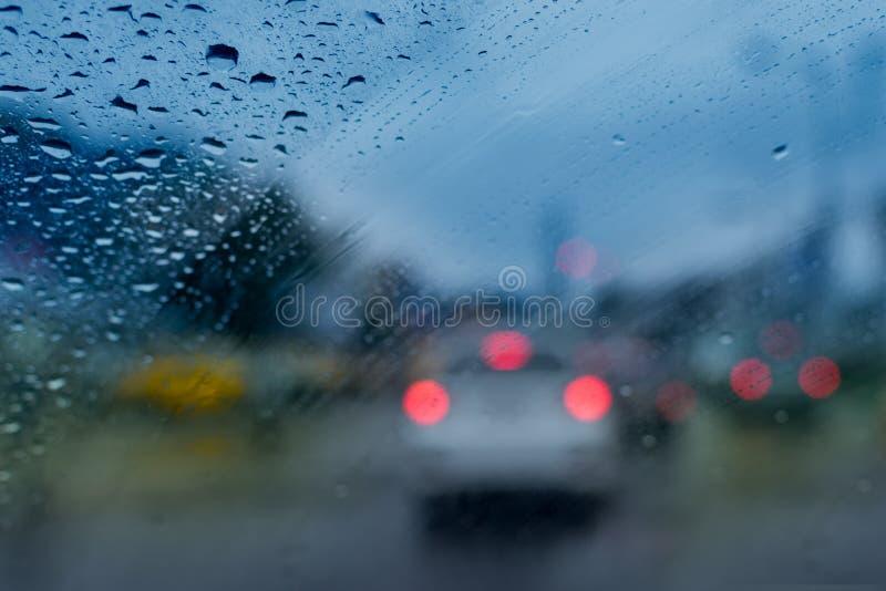Дождевые капли - изображение запаса муссона Kolkata стоковое изображение