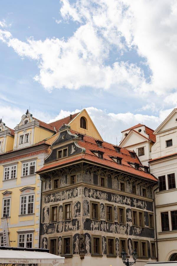 Дождливая осень в Праге стоковое изображение rf