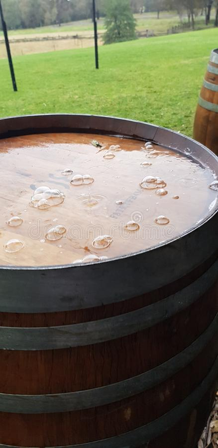 Дождливый бочонок стоковое изображение