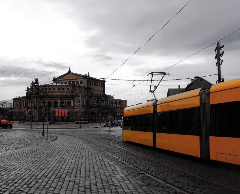 Дождливый день в Дрездене стоковая фотография