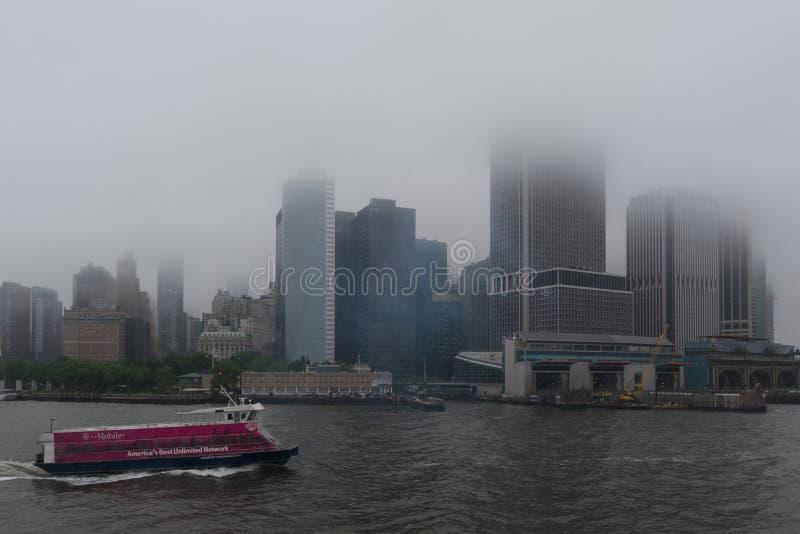 Дождливый день на Нью-Йорке стоковые изображения