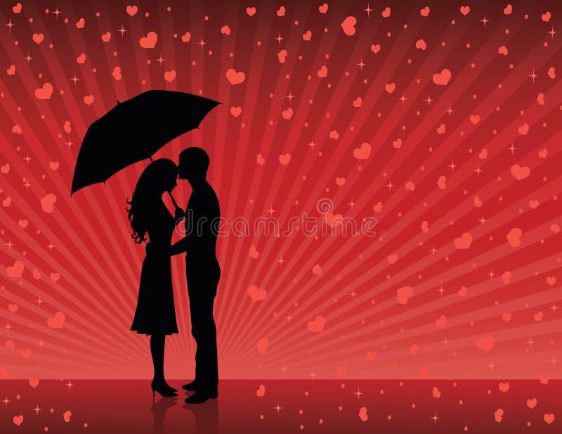 дождь влюбленности бесплатная иллюстрация