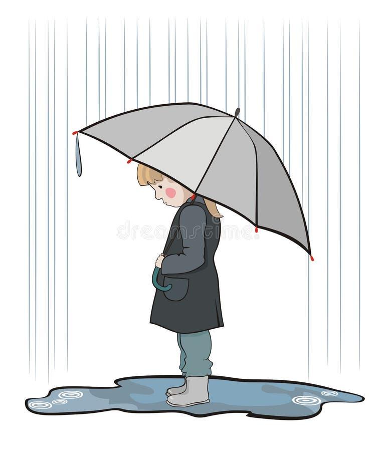 дождь вниз иллюстрация вектора