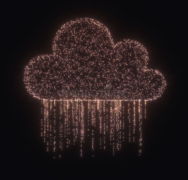 Дождь данным по облака вычисляя бесплатная иллюстрация