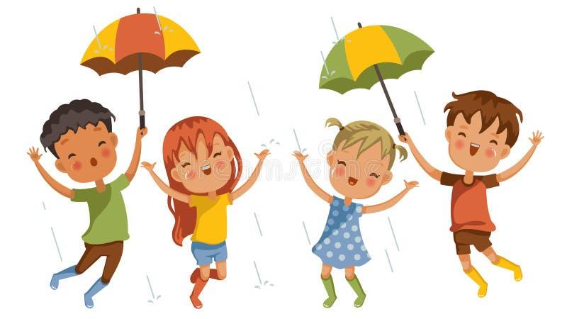 Дождь игры иллюстрация вектора