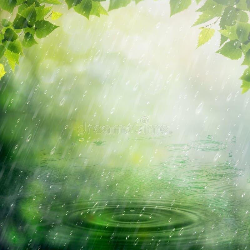 Дождь лета. иллюстрация вектора