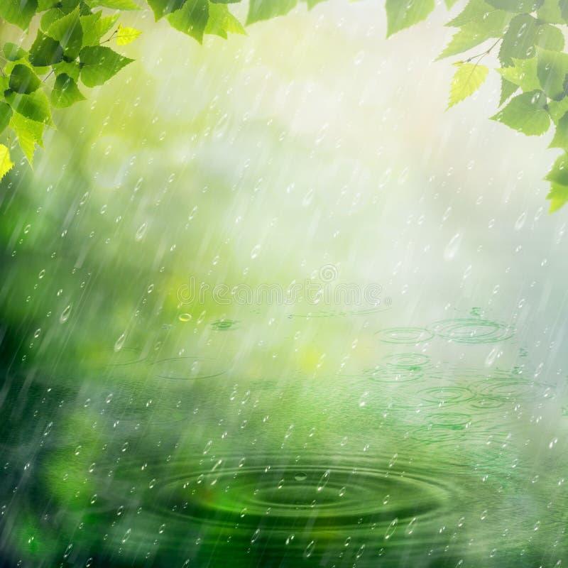 Дождь лета. бесплатная иллюстрация