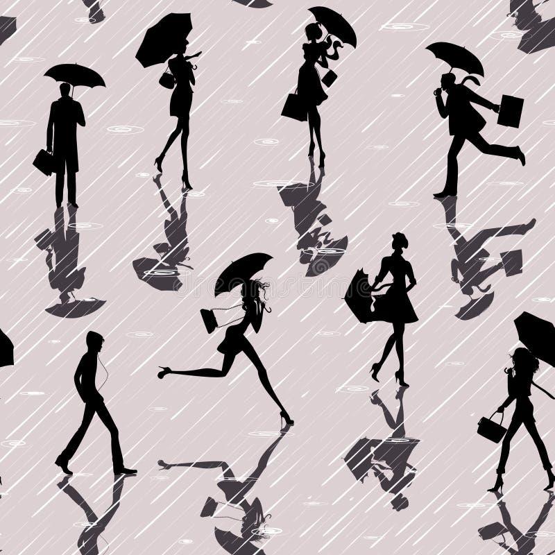 дождь людей бесплатная иллюстрация